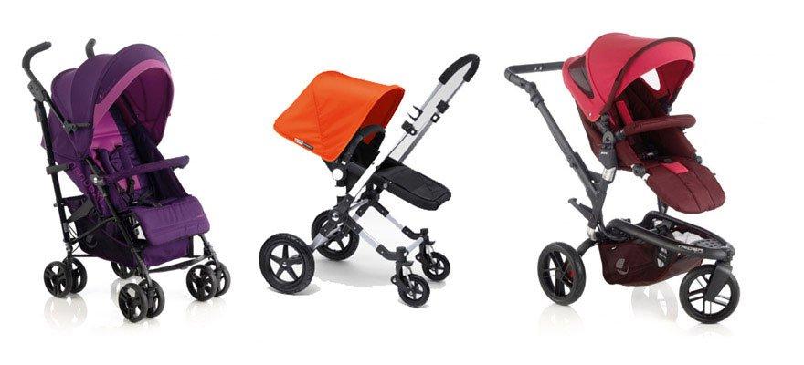 Carritos de bebé con 4 o 3 ruedas