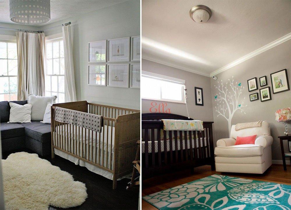 de beb en gris y madera