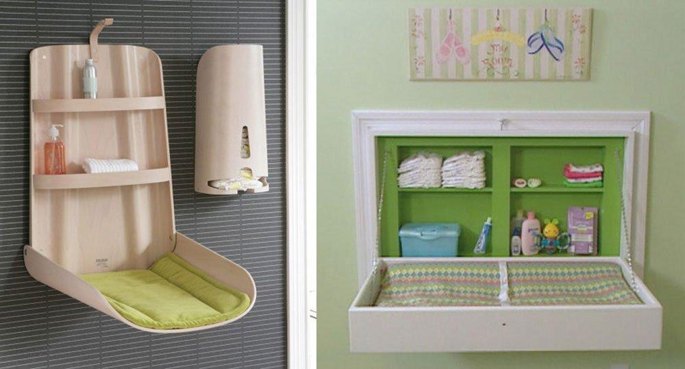 Cambiador ideas para la habitaci n del beb - Como hacer un cambiador para bebes ...