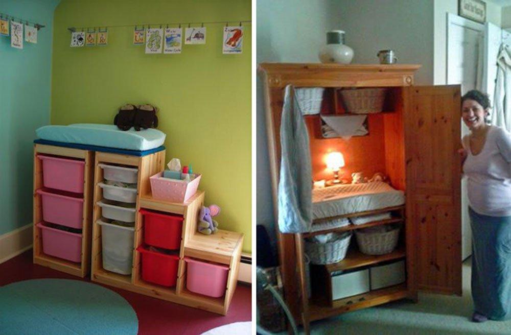 Cambiador ideas para la habitaci n del beb - Cambiadores para encima cuna ...