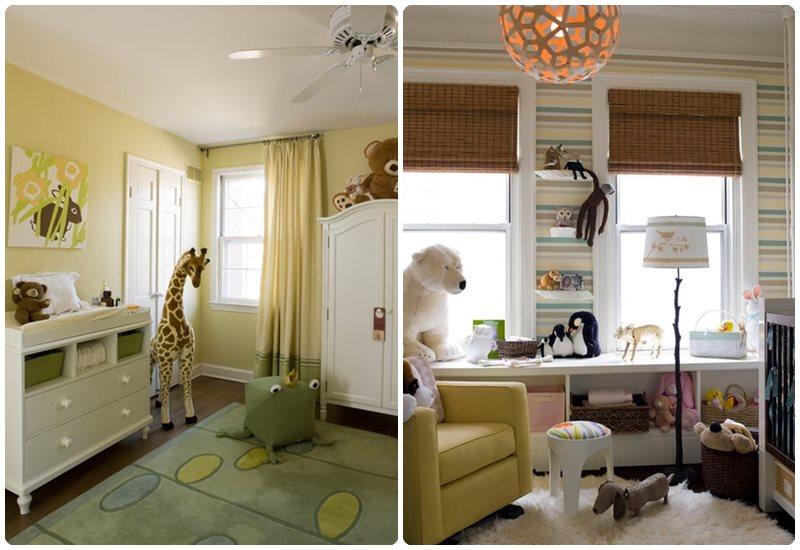Decorar la habitaci n del beb con animales menudos beb s - Decorar una habitacion de bebe ...
