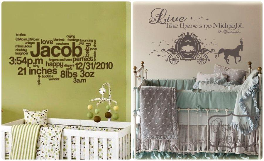 Vinilos infantiles en la habitaci n del beb for Pegatinas para habitacion de bebe