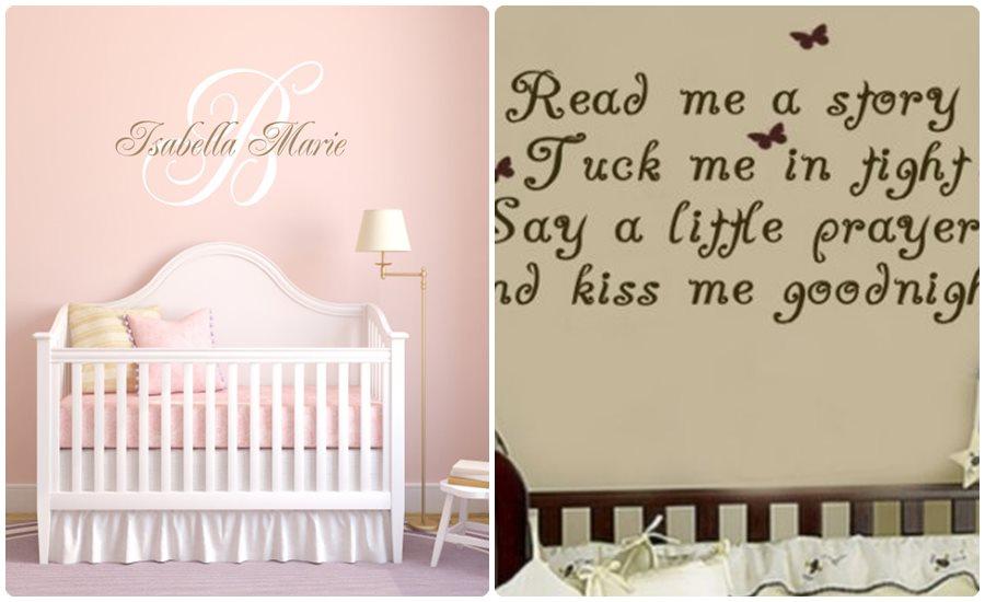 Vinilos infantiles en la habitaci n del beb - Vinilos frases para dormitorios ...