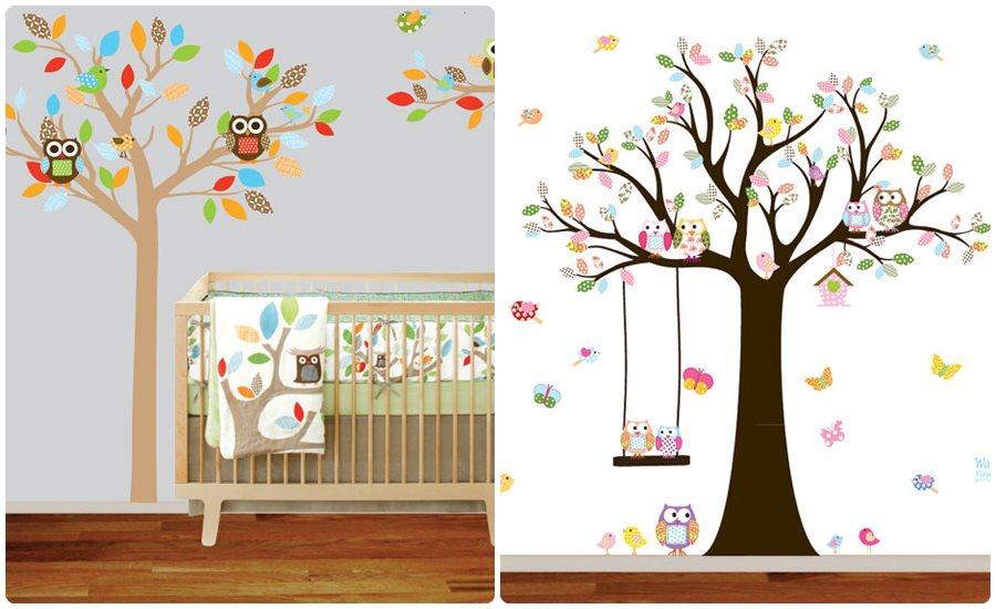Vinilos infantiles en la habitaci n del beb for Habitacion bebe con vinilos
