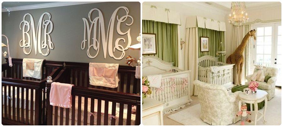 C mo decorar habitaciones para gemelos menudos beb s for Decoracion de cuarto para ninas gemelas
