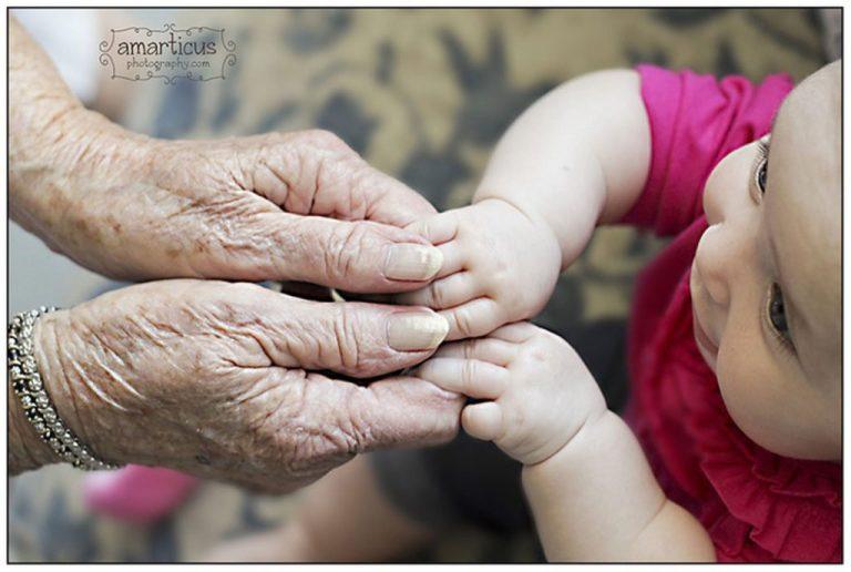 Abuelos y nietos: fotos artísticas
