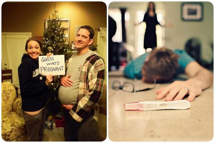 Fotos graciosas como anuncio de embarazo