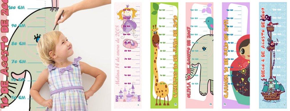 medidores infantiles de loneta personalizable