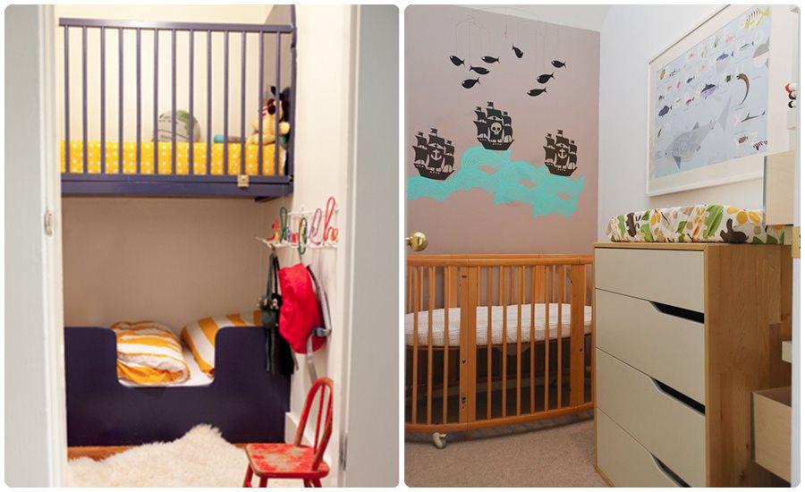Habitaciones para bebés en pisos pequeños
