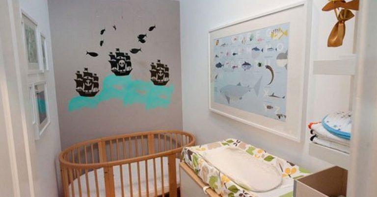 Habitación de bebé en pisos pequeños
