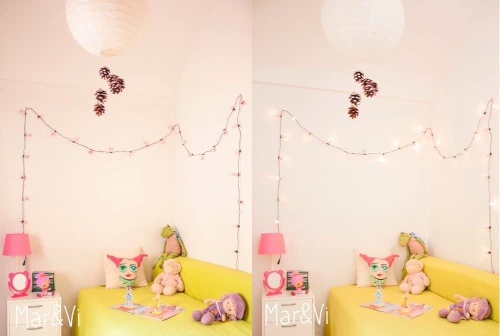 habitacion del bebe: guirnalda de luces