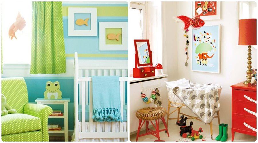 Habitaciones para bebés con mucho color