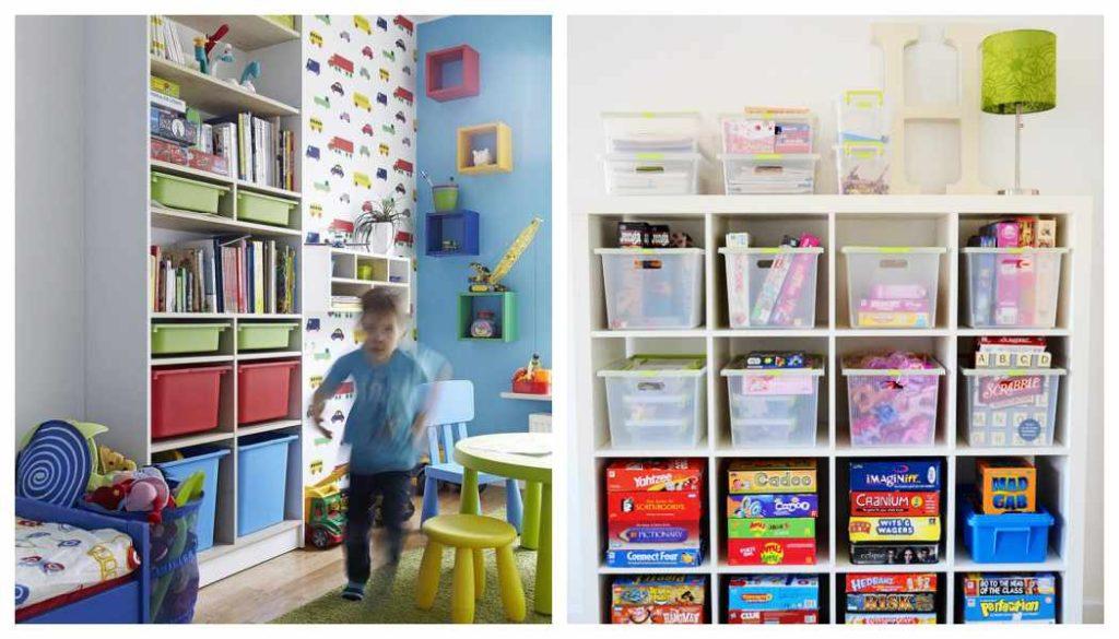 Ba les infantiles para mantener la habitaci n en orden - Cajas ordenacion ikea ...