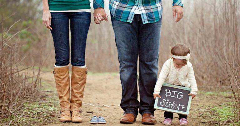 Fotos divertidas para anunciar un nuevo hijo