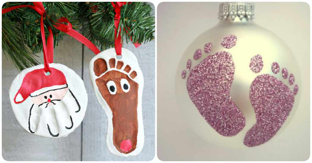 8 adornos navide os para hacer con tu beb - Adornos para bebes ...