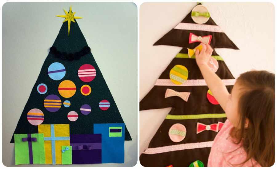 a66757c9220 Cómo hacer un árbol de Navidad en fieltro