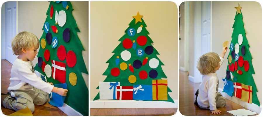 C mo hacer un rbol de navidad en fieltro - Como hacer un arbol de navidad de papel ...