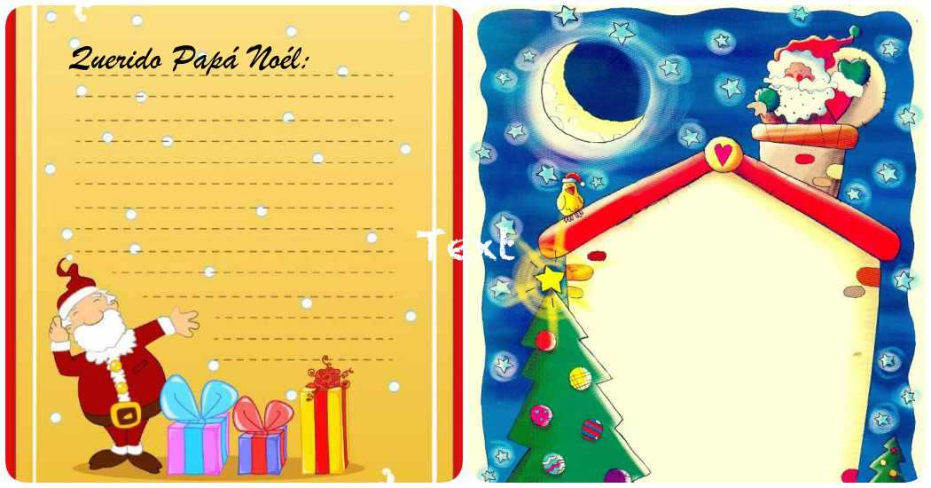 Carta A Papa Noel 5 Modelos Para Imprimir Gratis - Papa-noel-para-imprimir