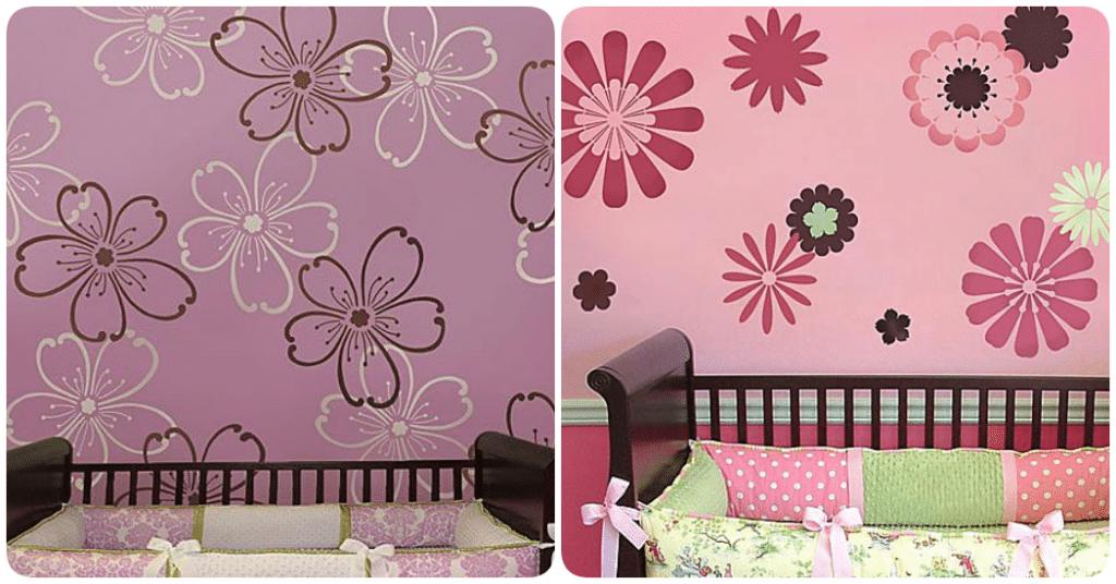 stencil ideas de decoraci n para la habitaci n del beb