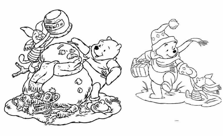 10 dibujos Disney de Navidad para colorear