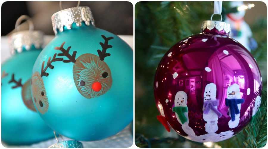 8 adornos navide os para hacer con tu beb - Bolas arbol navidad manualidades ...