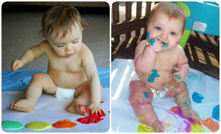 Receta para hacer pintura comestible para bebés