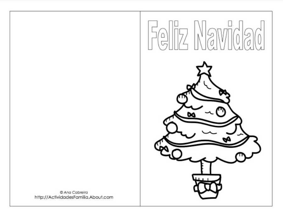 5 postales de navidad para colorear for Dibujos postales navidad ninos