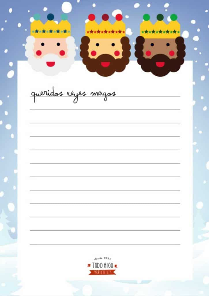 Worksheet. Carta a los Reyes Magos 3 modelos gratis