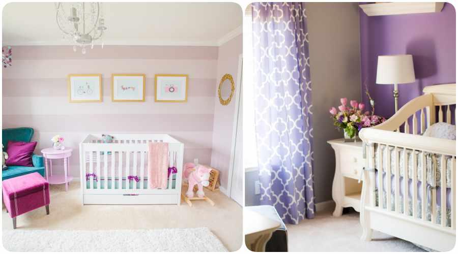 Las paredes de la habitación del bebé