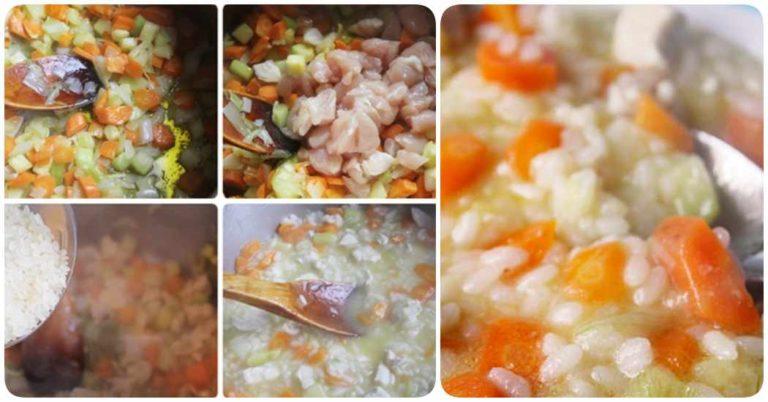 Receta paso a paso de arroz con pollo