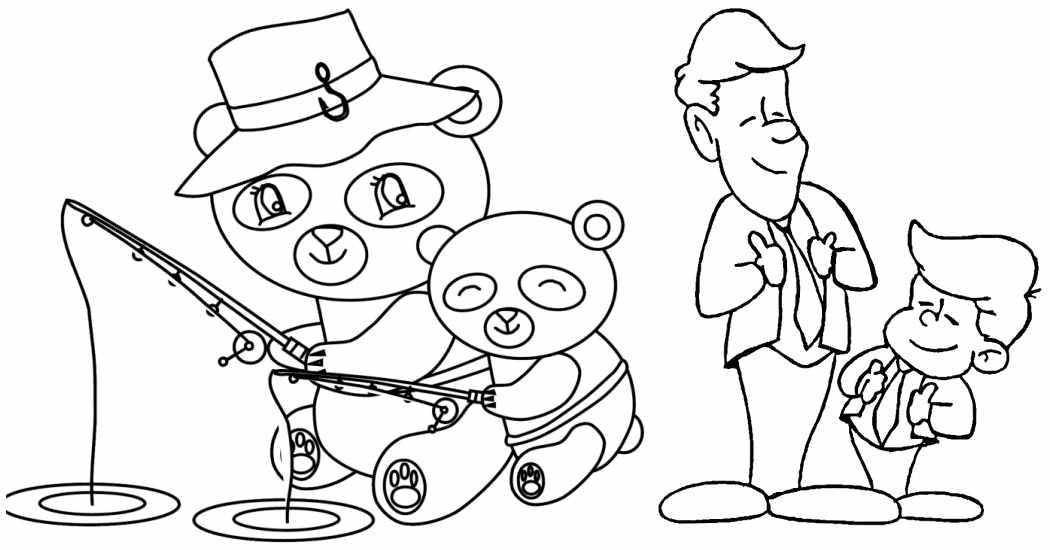 Día Del Padre 10 Dibujos Para Colorear Menudos Bebés