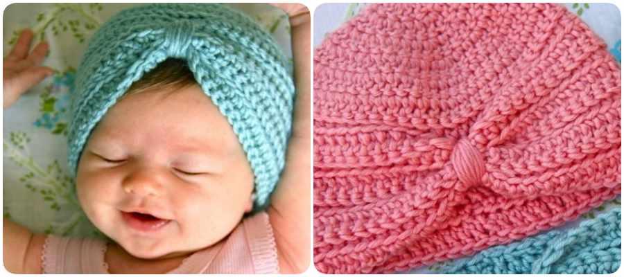 c0d1bce07 Cómo hacer gorros de bebé de ganchillo - Menudos Bebés