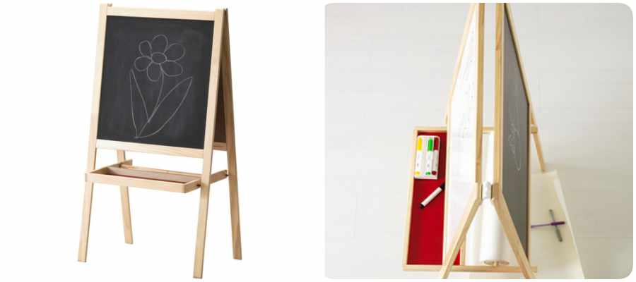 Montessori en casa crea una habitaci n infantil con - Pizarra de pared ikea ...