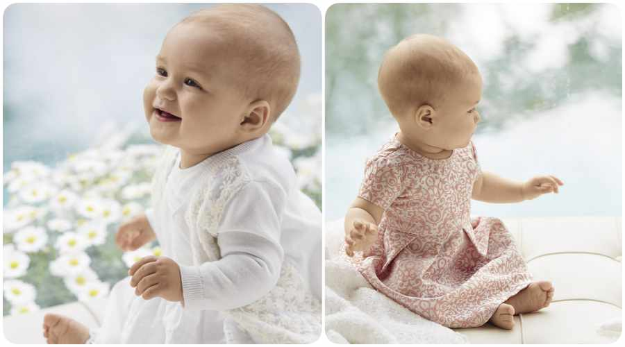 Benetton bebés: vestidos infantiles