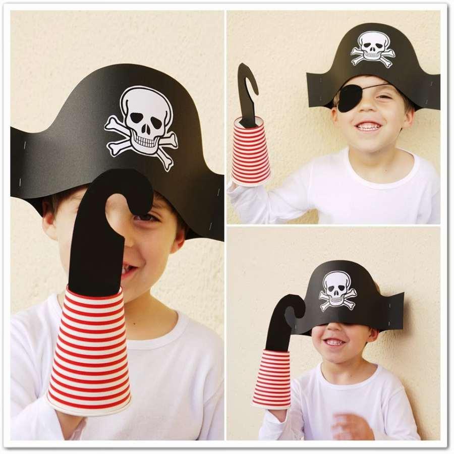 disfraz de pirata sombrero pirata paso a paso
