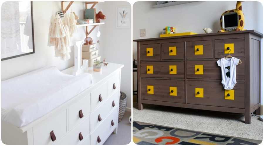 Ikeando la habitaci n del beb decoraci n original con for Mueble cambiador ikea
