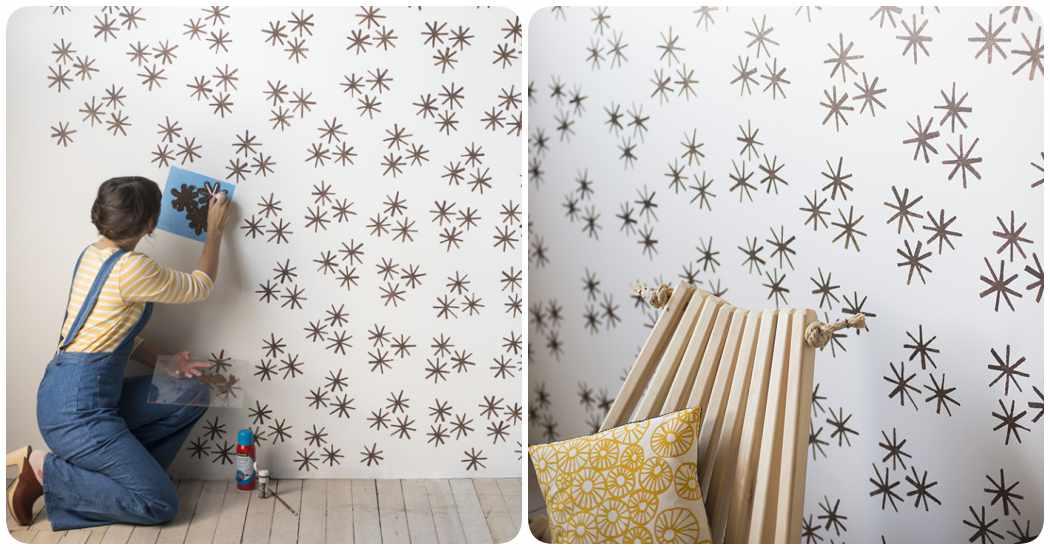 Plantillas para pintar paredes c mo hacer un stencil casero - Paredes pintadas con dibujos ...
