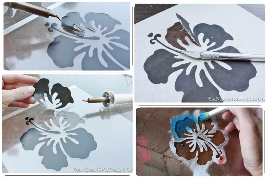Plantillas para pintar paredes c mo hacer un stencil casero - Plantillas para dibujar en la pared ...