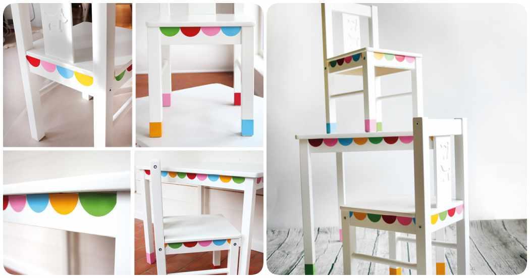 Mesas infantiles 4 ikea hacks para lograr un mueble original for Pegatinas para muebles