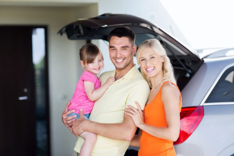 Viajar en coche en familia