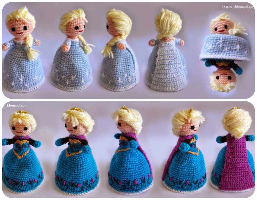 Amigurumi Frozen : Tutorial amigurumi elsa frozen slugom for