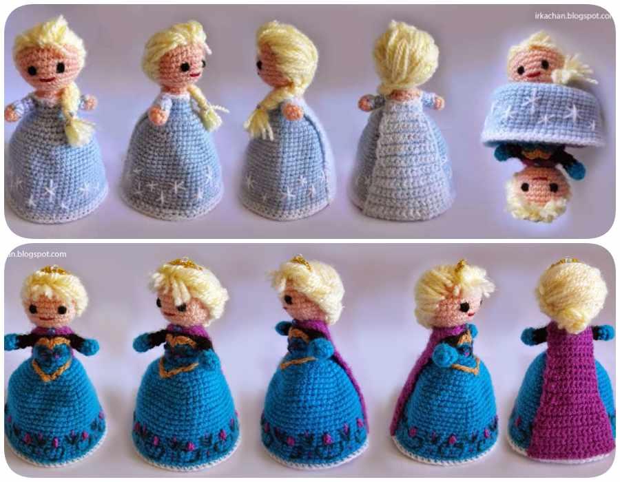 Amigurumis de Frozen: tutorial Elsa