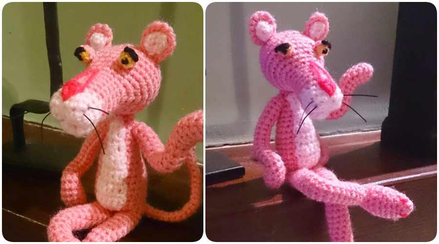 Amigurumis: hacer la pantera rosa