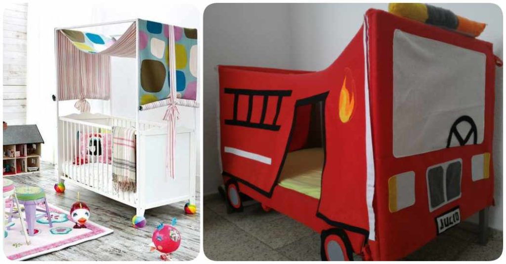 Cuna Ikea personalizada con telas