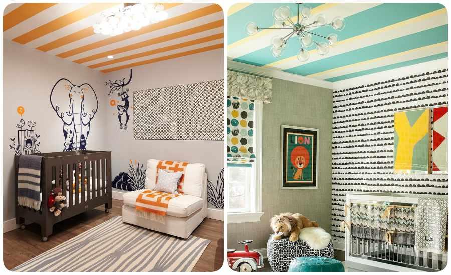 8 habitaciones para beb s modernas y dulces - Habitaciones infantiles pintadas a rayas ...