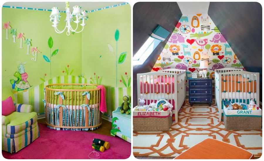 Habitaciones para bebés con colores y estampados