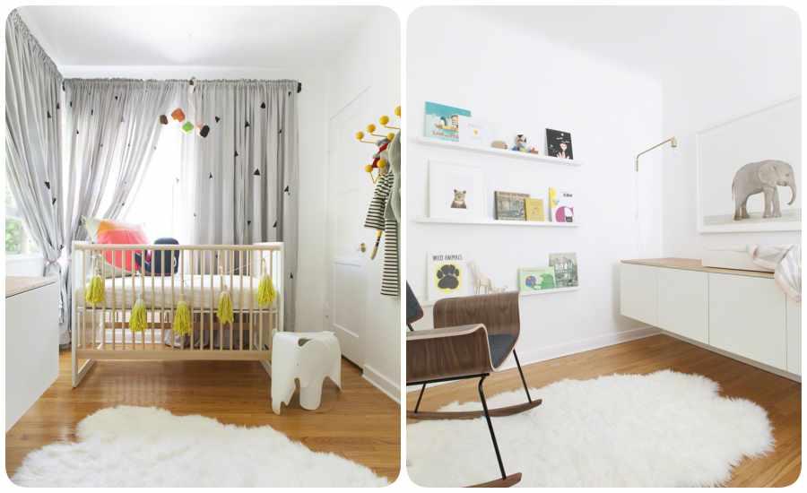 Decoración de la habitación del bebé en colores neutros