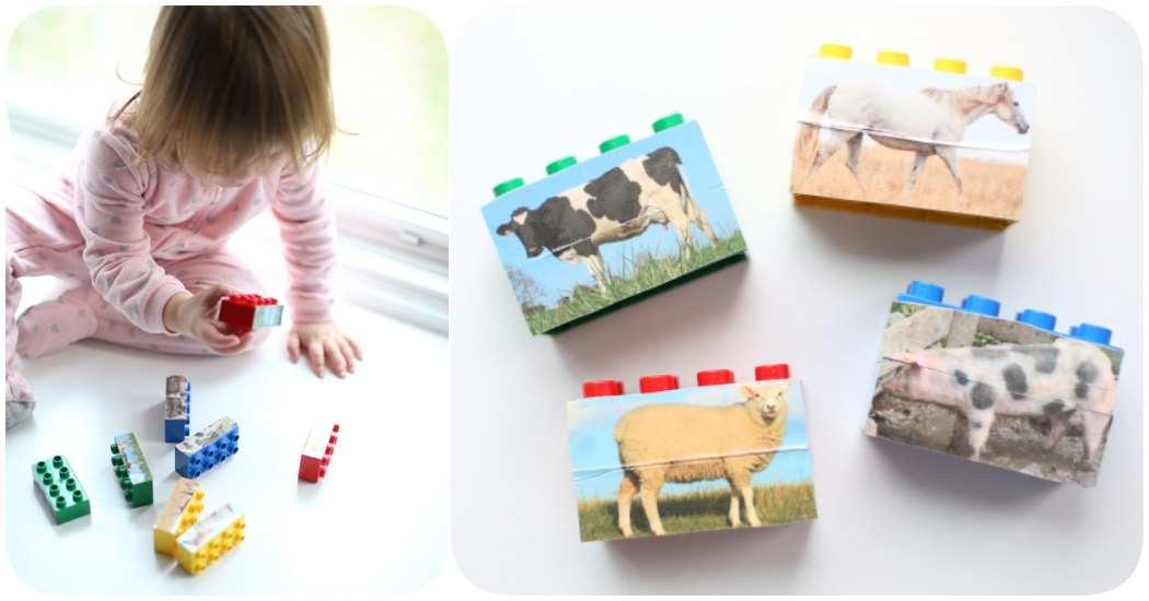 C mo hacer puzzles caseros con lego menudos beb s - Puzzles para ninos pequenos ...