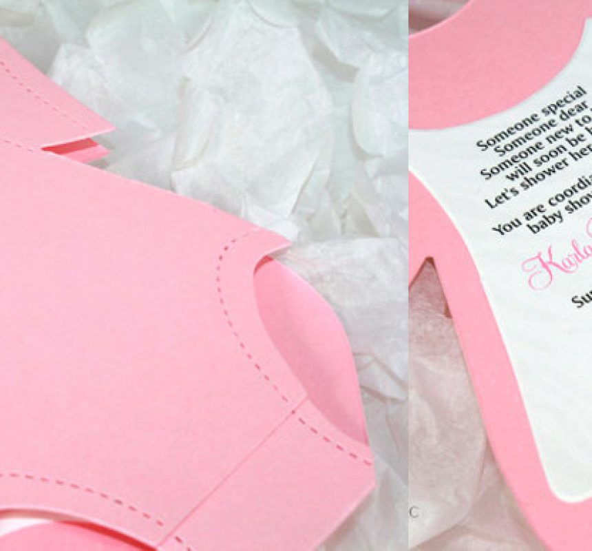 Invitacion handmade para baby shower