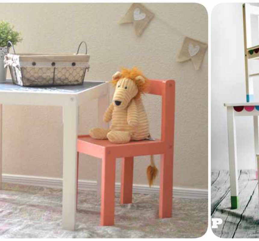 Mesas infantiles con Ikea Hacks